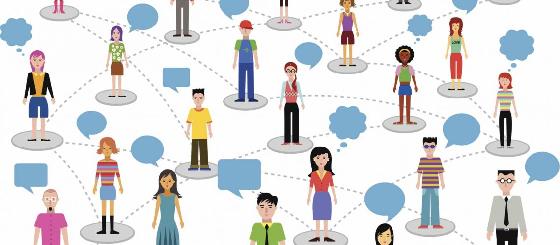 social network - people and speech bubbles